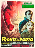 "Movie Posters:Drama, On the Waterfront (Columbia, 1954). Italian 2 - Folio (39"" X 55"")....."