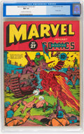 Golden Age (1938-1955):Superhero, Marvel Mystery Comics #27 (Timely, 1942) CGC NM 9.4 Cream to off-white pages....