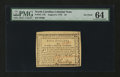 Colonial Notes:North Carolina, North Carolina August 8, 1778 $5 PMG Choice Uncirculated 64....