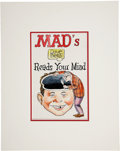 Original Comic Art:Covers, Dave Berg Mad's Dave Berg Reads Your Mind Paperback BookCover Preliminary Original Art (undated)....