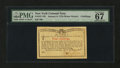 Colonial Notes:New York, New York January 6, 1776 (Water Works) 4s PMG Superb Gem Unc 67EPQ....