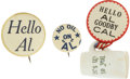 Political:Pinback Buttons (1896-present), Al Smith: Three Super and Rare Slogan Buttons. ... (Total: 3 Items)