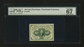 Fractional Currency:First Issue, Fr. 1242 10¢ First Issue PMG Superb Gem Unc 67 EPQ....