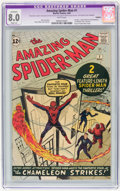 Silver Age (1956-1969):Superhero, The Amazing Spider-Man #1 (Marvel, 1963) CGC Apparent VF 8.0 Slight(A) Trimmed - White Pages....