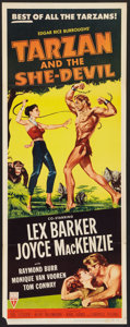 "Movie Posters:Adventure, Tarzan and the She-Devil (RKO, 1953). Insert (14"" X 36"").Adventure.. ..."