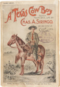Books:Non-fiction, Charles A. Siringo. A Texas Cow Boy. Chicago and New York:Rand, McNally & Company, [n.d.]. 12mo. 347pp, including 3...