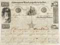 """Autographs:Statesmen, David G. Burnet Government Bond Signed. One page with ten coupons,10"""" x 7.5"""", January 1, 1841, Austin, in the amount of $10..."""