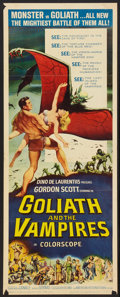 """Movie Posters:Horror, Goliath and the Vampires (American International, 1964). Insert (14"""" X 36""""). Horror.. ..."""