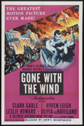 "Movie Posters:Romance, Gone with the Wind (MGM, R-1954). One Sheet (27"" X 41""). Romance.. ..."