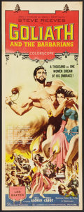 "Movie Posters:Adventure, Goliath and the Barbarians (American International, 1959). Insert(14"" X 36""). Adventure.. ..."