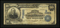National Bank Notes:Pennsylvania, Hazleton, PA - $10 1902 Date Back Fr. 618 The First NB Ch. # (E)3893. ...
