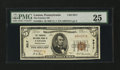 National Bank Notes:Pennsylvania, Canton, PA - $5 1929 Ty. 1 The Farmers NB Ch. # (S)9317. ...