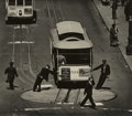 Photography :Other , MAX YAVNO (American, 1911-1985). Cable Car, 1947. Gelatinsilver, printed later. 15-1/2 x 17-1/2 inches (39.4 x 44.5 cm)...