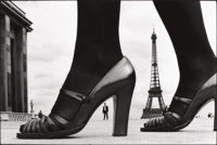 FRANK HORVAT (French, b. 1928) Stern, Chaussure, a Shoe and Eiffel Tower, Paris, 1974 Gelatin silver