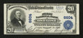 National Bank Notes:Wisconsin, Oshkosh, WI - $20 1902 Plain Back Fr. 650 First NB Ch. # 6604. ...