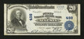 National Bank Notes:Maine, Augusta, ME - $20 1902 Plain Back Fr. 658 The First NationalGranite Bank Ch. # 498. ...