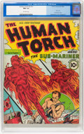 Golden Age (1938-1955):Superhero, The Human Torch #2 (#1) (Timely, 1940) CGC NM 9.4 Off-white pages....