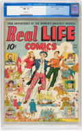 Golden Age (1938-1955):Non-Fiction, Real Life Comics #1 Denver pedigree (Nedor Publications, 1941) CGCNM- 9.2 White pages....