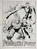 Original Comic Art:Splash Pages, Kirk Jarvinen and Terry Austin Fantastic Four Annual #25Double-Page Pin-Up Original Art (Marvel, 1992)....