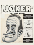 "Original Comic Art:Covers, Basil Wolverton Joker ""Bob Hope"" Illustration Original Art(Humorama, c. 1950)...."