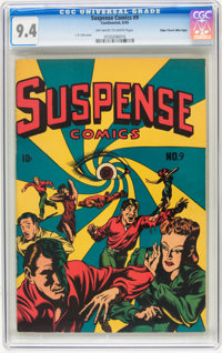 Suspense Comics #9 Mile High pedigree (Continental Magazines, 1945) CGC NM 9.4 Off-white to white pages