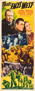 "Movie Posters:Adventure, Three Faces West (Republic, 1940). Insert (14"" X 36""), Title LobbyCard and Lobby Cards (3) (11"" X 14"").. ... (Total: 5 Items)"