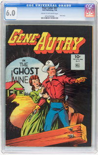 Four Color #47 Gene Autry (Dell, 1944) CGC FN 6.0 Cream to off-white pages