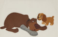 Animation Art:Production Cel, Lady and the Tramp Animation Production Cel Set-Up OriginalArt (Walt Disney, 1955)....
