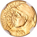 Commemorative Gold, 1915-S G$1 Panama-Pacific Gold Dollar MS67 NGC....