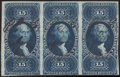 Stamps, $15 Mortgage, Imperforate (R97a),...