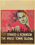 "Movie Posters:Comedy, The Whole Town's Talking (Columbia, 1935). Jumbo Window Card (22"" X28"").. ..."