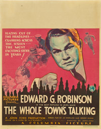 "The Whole Town's Talking (Columbia, 1935). Jumbo Window Card (22"" X 28"")"