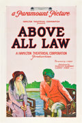 "Movie Posters:Adventure, Above All Law (Paramount, 1922). One Sheet (27"" X 41"").. ..."