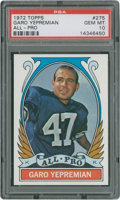 Football Cards:Singles (1970-Now), 1972 Topps Garo Yepremian #275 PSA Gem Mint 10....