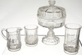 Antiques:Decorative Americana, U.S. Coin Glass: Lot of Serving Pieces, Columbian World's FairGlass, circa 1893.... (Total: 4 Items)