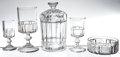 Antiques:Decorative Americana, U.S. Coin Glass: Lot of Serving and Glassware Pieces, Central GlassCo. of Wheeling, West Virginia, circa 1892. ... (Total: 5 Items)