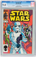 Modern Age (1980-Present):Science Fiction, Star Wars #97 (Marvel, 1985) CGC NM/MT 9.8 Off-white to whitepages....