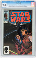 Modern Age (1980-Present):Science Fiction, Star Wars #95 (Marvel, 1985) CGC NM/MT 9.8 White pages....