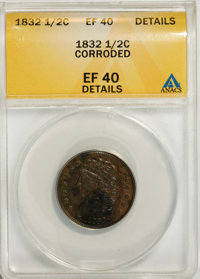 1832 1/2 C --Corroded--XF40 ANACS. XF40 Details. NGC Census: (4/199). PCGS Population (18/255). Mintage: 154,000. Numism...