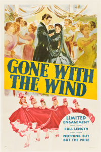 "Gone with the Wind (MGM, 1940). One Sheet (27"" X 41"") Style DP"