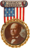 Political:Ribbons & Badges, William Jennings Bryan: Choice Large 1908 Campaign Badge. ...