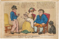 "Antiques:Posters & Prints, ""A Seaman's Wife's Reckoning"" Colored Etching, Circa 1812...."