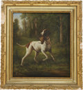 Western Expansion:Cowboy, Painting: Untitled Painting of a Retriever, Circa 1890....