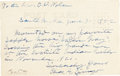 "Autographs:Celebrities, Charles A. Siringo Autograph Letter Signed ""Chas. A.Siringo"" on verso of a photograph postcard, 5.5"" x 3.5"". Theletter..."