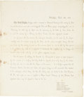 """Autographs:Military Figures, Mexican War: Invitation to a Memorial of the Battle of Cerro Gordo. One page, 7.75"""" x 8.75"""", March 6, 1855, Philadelphia. Th..."""