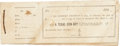 "Miscellaneous:Ephemera, [Charles A. Siringo] Book of Receipts for A Texas Cow-Boy,6.75"" x 2.5"", bound with string, containing over thirty r..."
