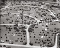 Photography :20th Century , BERENICE ABBOTT (American, 1898-1991). Cemetery Aerial View. Gelatin silver. 15-1/2 x 19-1/4 inches (39.4 x 48.9 cm). R...
