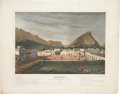 """Military & Patriotic:Pre-Civil War, D. P. Whiting Lithograph: """"Monterey, As seen from a house-top in the main Plaza, (to the west.) October, 1846."""" New ..."""