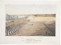 """Military & Patriotic:Pre-Civil War, D. P. Whiting Lithograph: """"Birds-eye view of the Camp of the Army of Occupation, Commanded by Genl. Taylor. Near C..."""