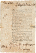 Autographs:Non-American, [Agustín Viesca] Broadside Issued to Clarify an Earlier DecreeConcerning Livestock. ...